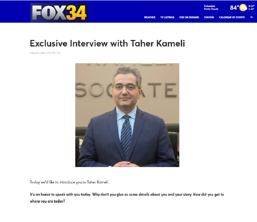 Taher Kameli interview with Fox 34 2021